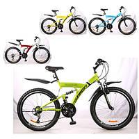 Горный велосипед MTB 24 дюйма PROFI - GAMBLER,  (Микс) на стальной раме