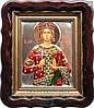 Икона Святая Екатерина в серебряном окладе  №96