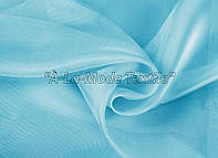 Микровуаль (муар) светло-голубой в. 3.00 м с утяж.
