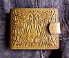 Мужское портмоне из натуральной кожи №16 Лев