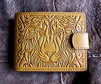 Мужское портмоне из натуральной кожи №16 Лев, фото 1