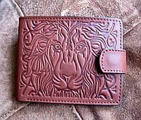 Стильное мужское портмоне из кожи №16 Лев, фото 1