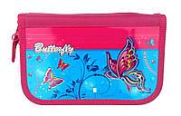 Пенал 3 отделения 7325 Бабочки