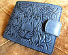 Топовое кожаное портмоне №16 Лев