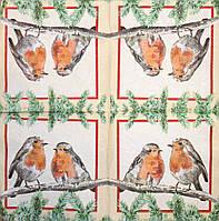 Салфетка Две птички на ветке 696