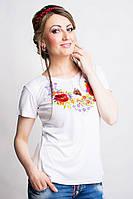 Нарядная женская вышитая футболка