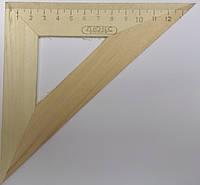 Треугольник деревянный 14 см (45*45*90)