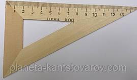 Треугольник деревянный 15 см (60*30*90)