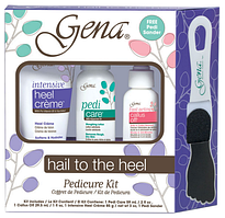 2122 Gena Hail To the Heel - Набор дляпедикюра (Pedi Care 59ml, Callus Off 29ml, Intensive Heel Cream 85g=Pedi sander)