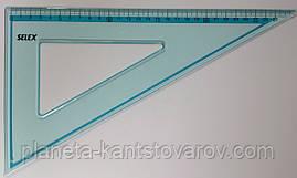 Треугольник пластик 30см-60* №SX-0015