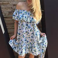 Платье TM B&H.Материал:штапель-принт. Размеры:Универсал. Цвет:синие,оранжевый,фиолетовый.AA 057
