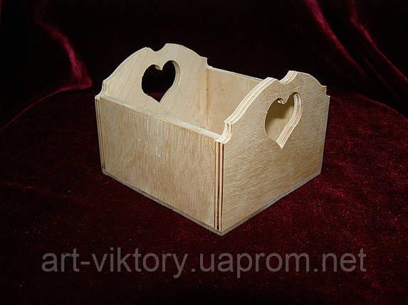 Короб малый сердечко ( 10 х 10,5 х 7,5 см), фото 2