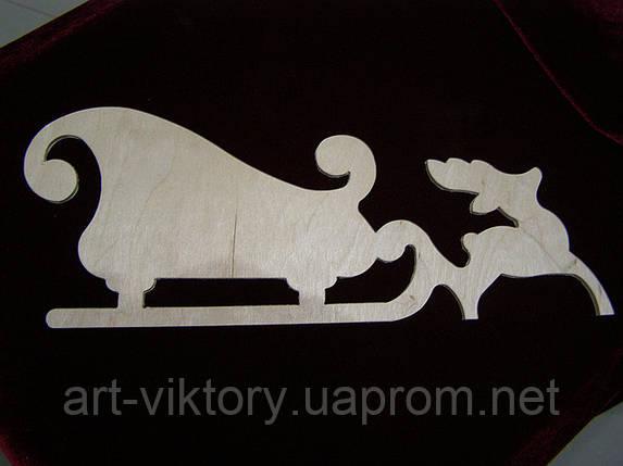 Сани с оленем (35,5 х 13 см), декор, фото 2