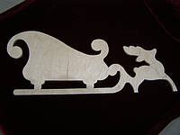 Сани с оленем (35,5 х 13 см), декор