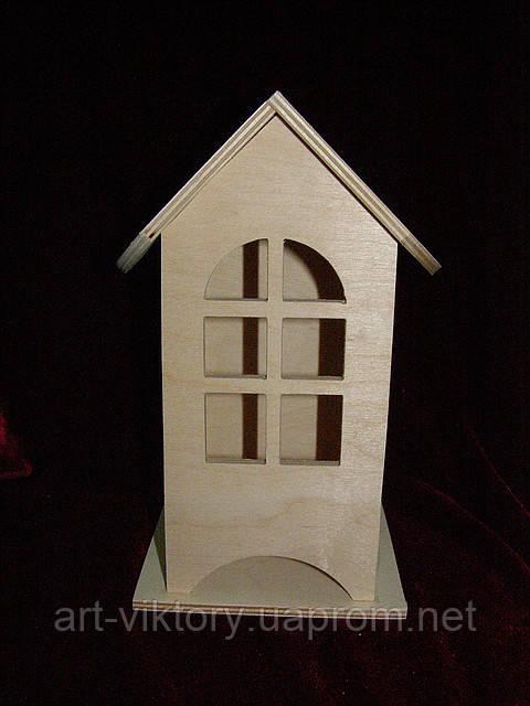 Будиночок для чайних пакетиків (заготівля) (10 х 10 х 23 см)