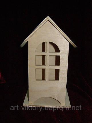 Будиночок для чайних пакетиків (заготівля) (10 х 10 х 23 см), фото 2