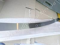 Накладка на бампер Skoda OCTAVIA II 5-дверка FL с 2009- (NataNiko)