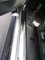 Защита порогов - накладки на пороги Mitsubishi PAJERO SPORT с 2005 г. (Premium)