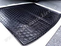 Коврик в багажник Volkswagen Caddy с 2004 г. короткая база (Автогум AVTO-GUMM) пластик+резина