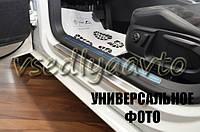 Защита порогов - накладки на пороги Hyundai Santa Fe III с 2013 г. (Standart)