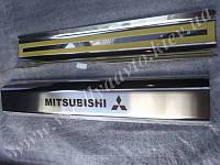 Накладки на пластиковые пороги Mitsubishi LANCER X
