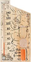 Стеклоприбор 300075 банная станция, часы песочные и термометр для сауны 0 +150