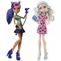 Monster High Вайперин Горгон и Клодин Вульф из серии Пугающий Макияж Scare & Make Up Viperine and Clawdeen 2 Pack Doll