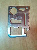 Мультитул, кредитная карта, многофункциональный инструмент 11-в-1