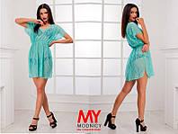Короткая пляжная платье-туника Гипюровая