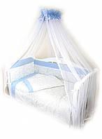 Детская постель голубого цвета Twins Evolution А-008 Снежная королева