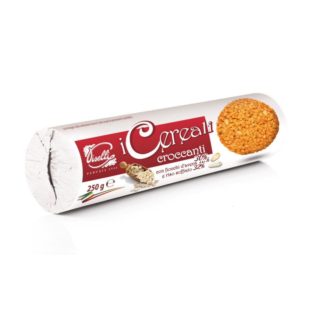 Печенье овсяное с воздушным рисом Piselli 250г - Casa Rinaldi - продукты итальянского фермерства в Киеве