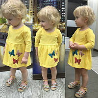 Детский милый сарафанчик с бабочками 3D (3 цвета)