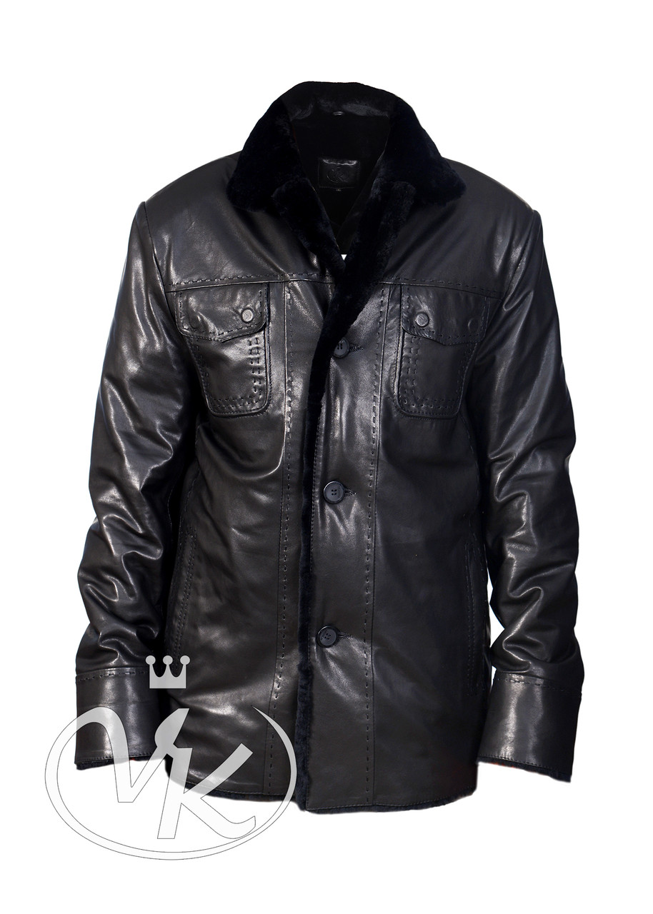 911839548c24e Зимняя кожаная куртка мужская - Интернет магазин кожаных курток и дубленок  VK-Fason в Виннице