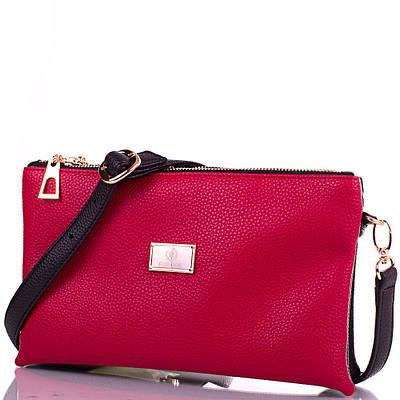Женская сумка-клатч из экокожи EUROPE MOB (ЮЭРОП МОБ) EM2-0010-1 Красно-черная