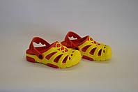 Сланцы детские кроксы оптом (желто-красные) , фото 1
