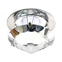 Встраиваемый декоративный светильник с кристаллом Feron CD29 прозрачный хром