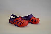 Детские шлепанцы кроксы оптом  (красно-фиолетовый), фото 1