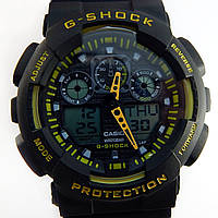 Кварцевые спортивные часы (black-yellow)