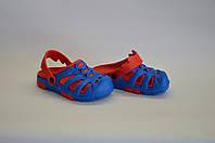Детские шлепанцы кроксы оптом  (сине-красный), фото 1