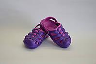 Детские шлепанцы кроксы сабо оптом  (фиолетовые), фото 1