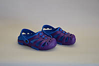 Детские шлепанцы кроксы оптом (фиолетово - синие), фото 1