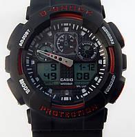 Кварцевые спортивные часы (black-red)