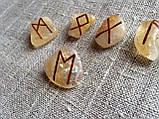 Руны из камня Premium, 25 символов. Цитрин. (L) , фото 3