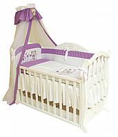 Постель в кроватку для новорожденных  Twins Evolution А-019 Лето /фиолет.(7 элементов)