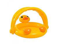 Детский надувной бассейн с навесом Уточка 57121 Intex