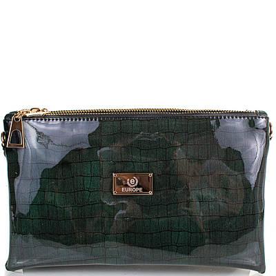 Женская сумка-клатч из экокожи EUROPE MOB (ЮЭРОП МОБ) EM2-008-4 Черная