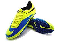 Футбольные сороконожки Nike HyperVenom Phelon TF Yellow/Blue/Black, фото 1