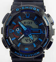 Кварцевые спортивные часы (black-blue)