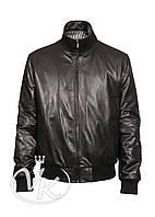 Кожаная куртка мужская бомбер, фото 1