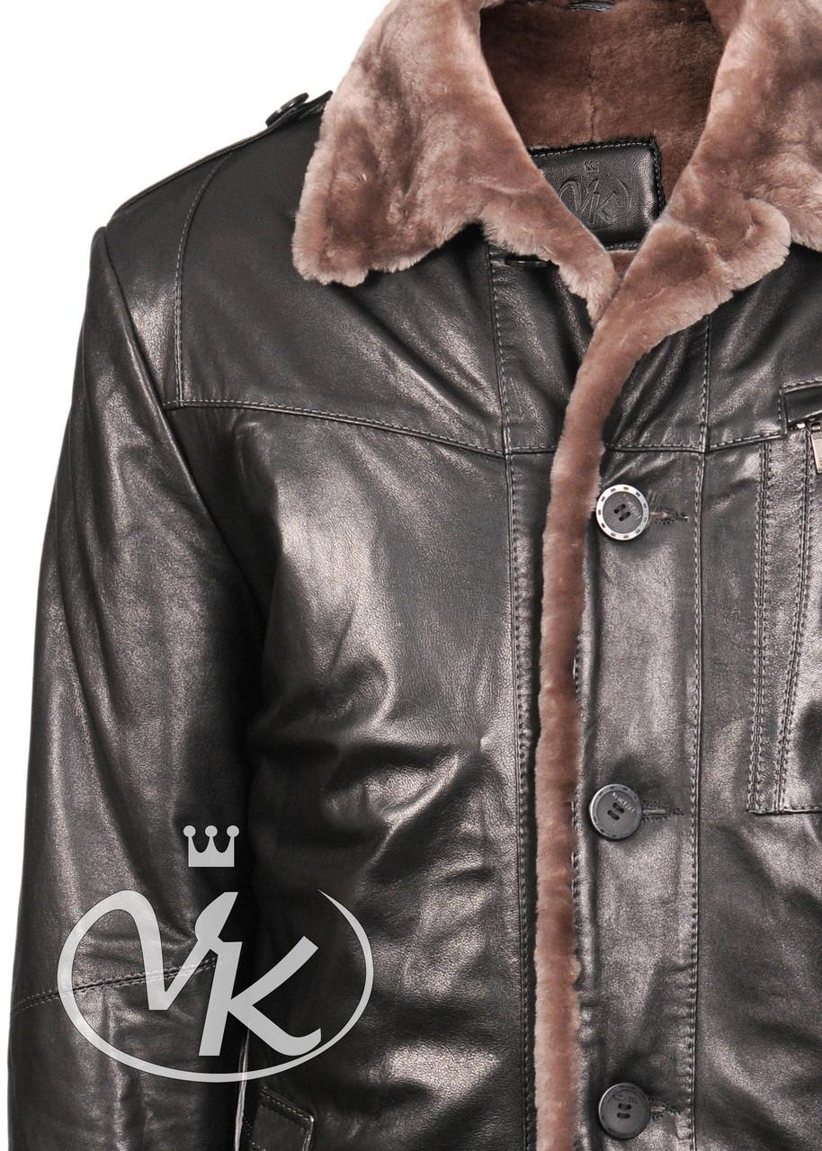 Мужские Зимние Кожаные Куртки Мехом